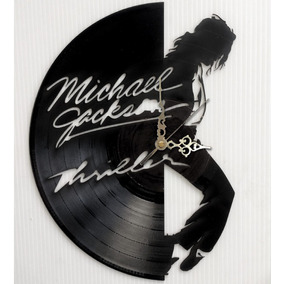 De Michael Disco En Jackson Thriller Mercado Relojes Vinilo PNO80wyvmn