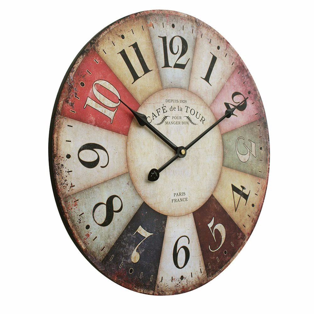 Reloj de pared estilo vintage antiguo toscano paris - Reloj de pared vinilo ...