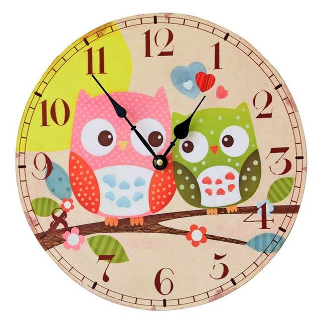 Relojes Pared Cocina | Reloj Pared Buhos Living Cocina Deco 239 00 En Mercado Libre