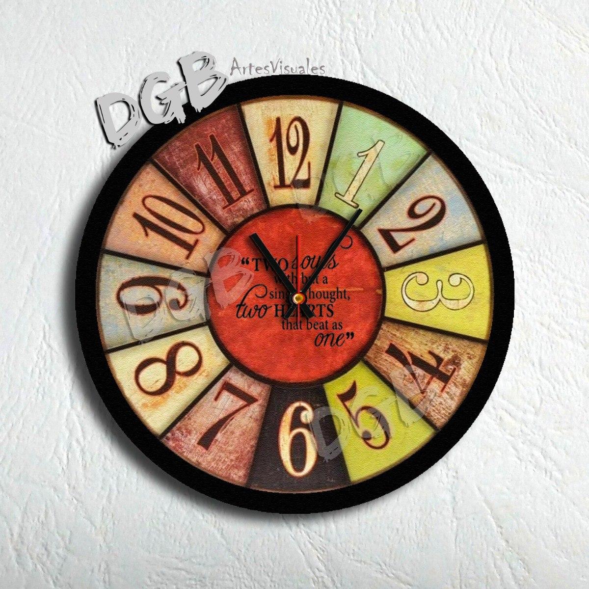 46b766f905a8 Reloj De Pared Moderno Deco Hogar Vintage 30 Cm -   369