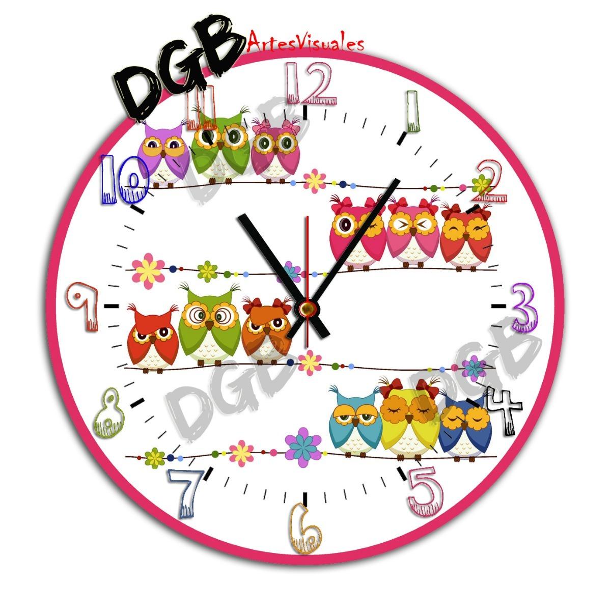 bf6af7ab7d92 Reloj De Pared Infantil Decoracion 30 Cm Unicos!!! -   319