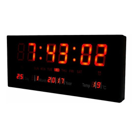 Reloj Pared Digital Led Alarma Calendario Temperatura Fecha