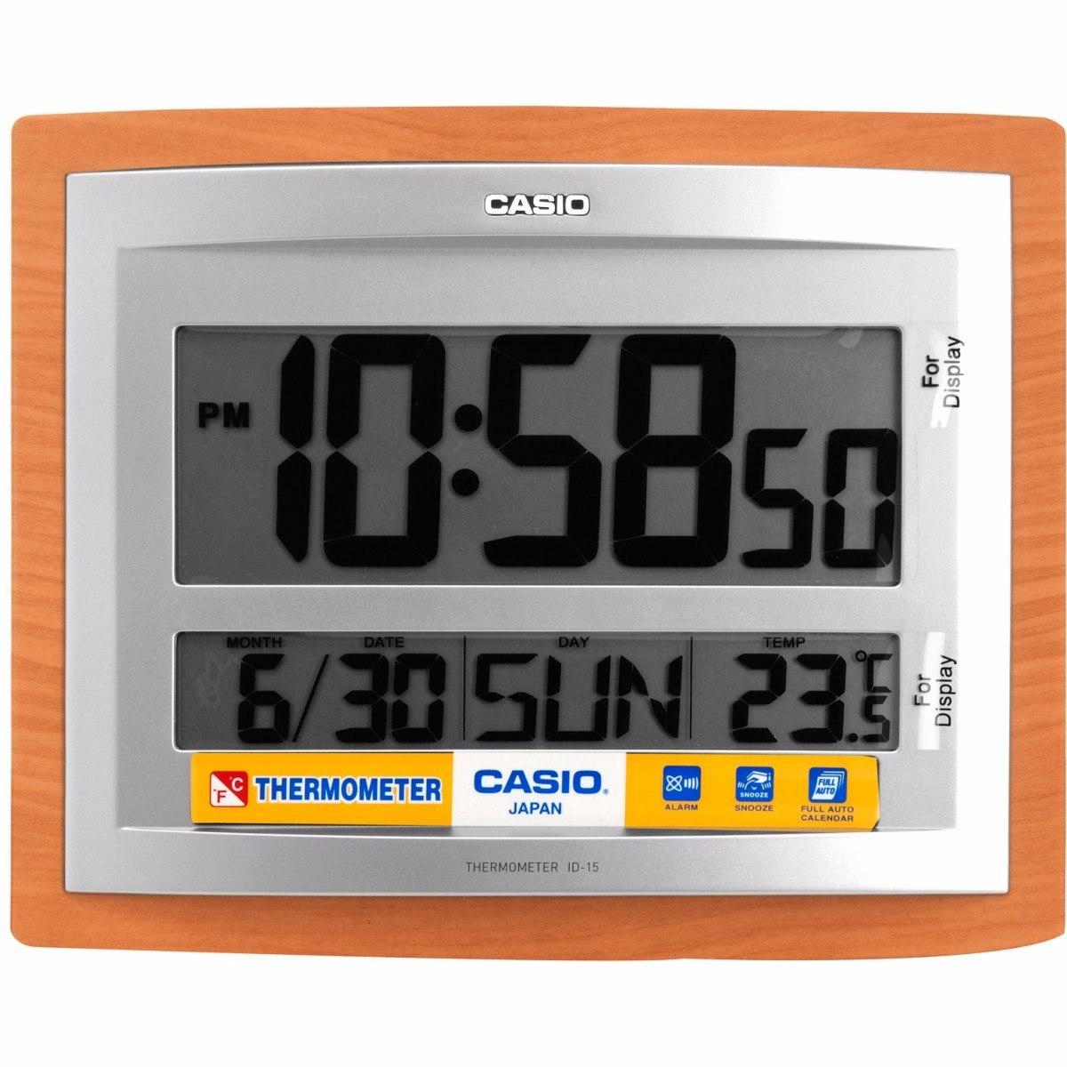 e5b47943c40c Reloj Pared Escritorio Casio Digital Alarma Fecha Termometro -   134.000 en  Mercado Libre
