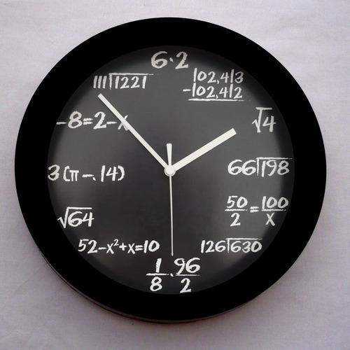 reloj pared  geek nerd matematico google apple con envío
