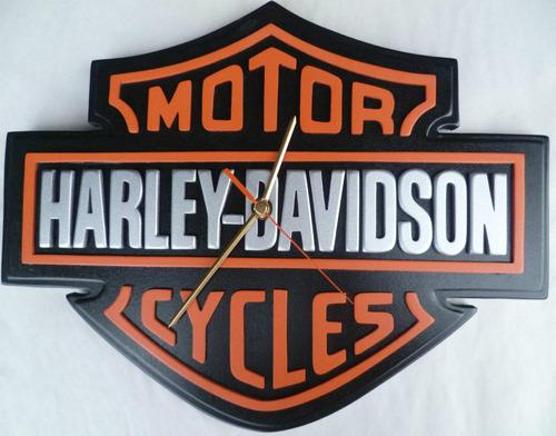 reloj pared harley harley clasico en madera