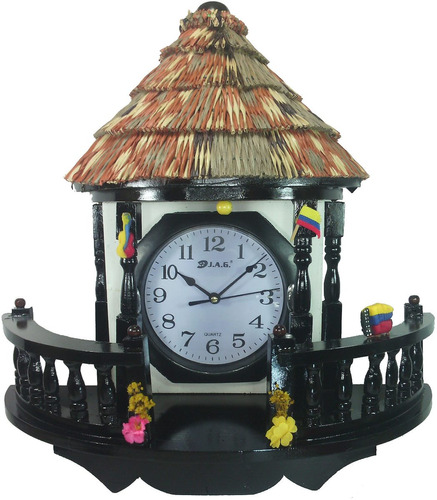 reloj pared mesa artesanal madera rustica ¡ gratis baterias!