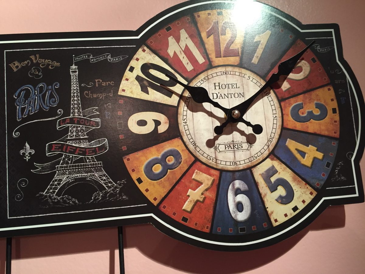 Reloj De Pared Paris Perchero De Pared Vintage Hermoso 650  ~ Relojes Grandes De Pared Vintage