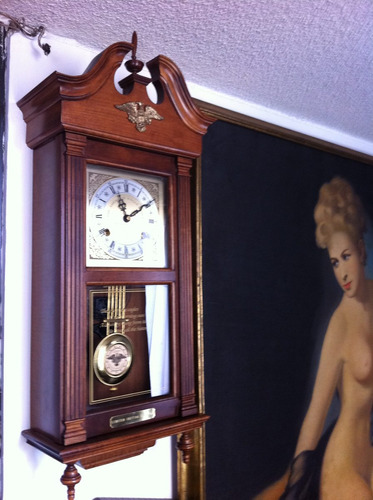 reloj  pared pendulo aguila americana edicion limitada