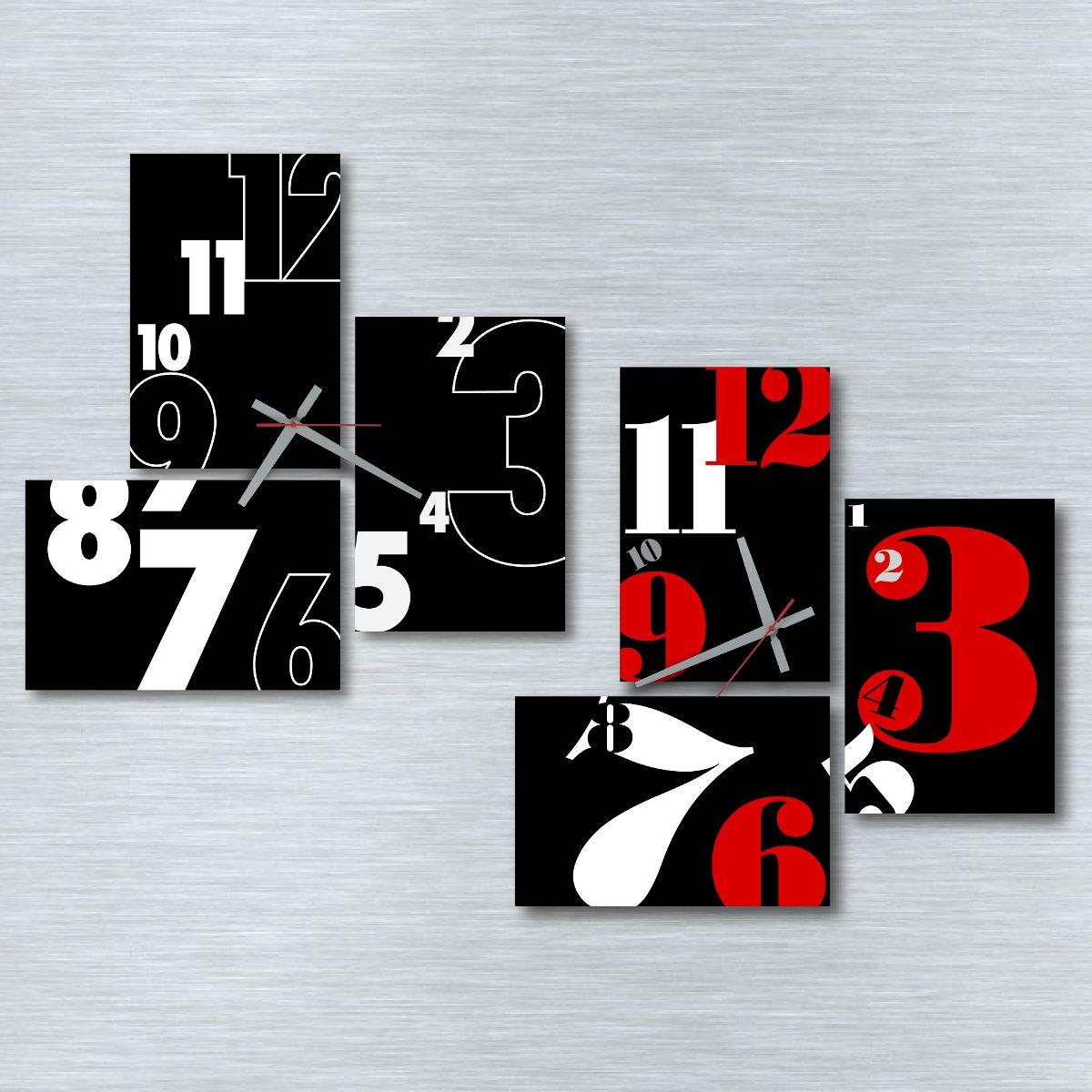 Reloj De Pared Cuadro Tríptico Diseño Tic Time Relojes - $ 495,00 en ...