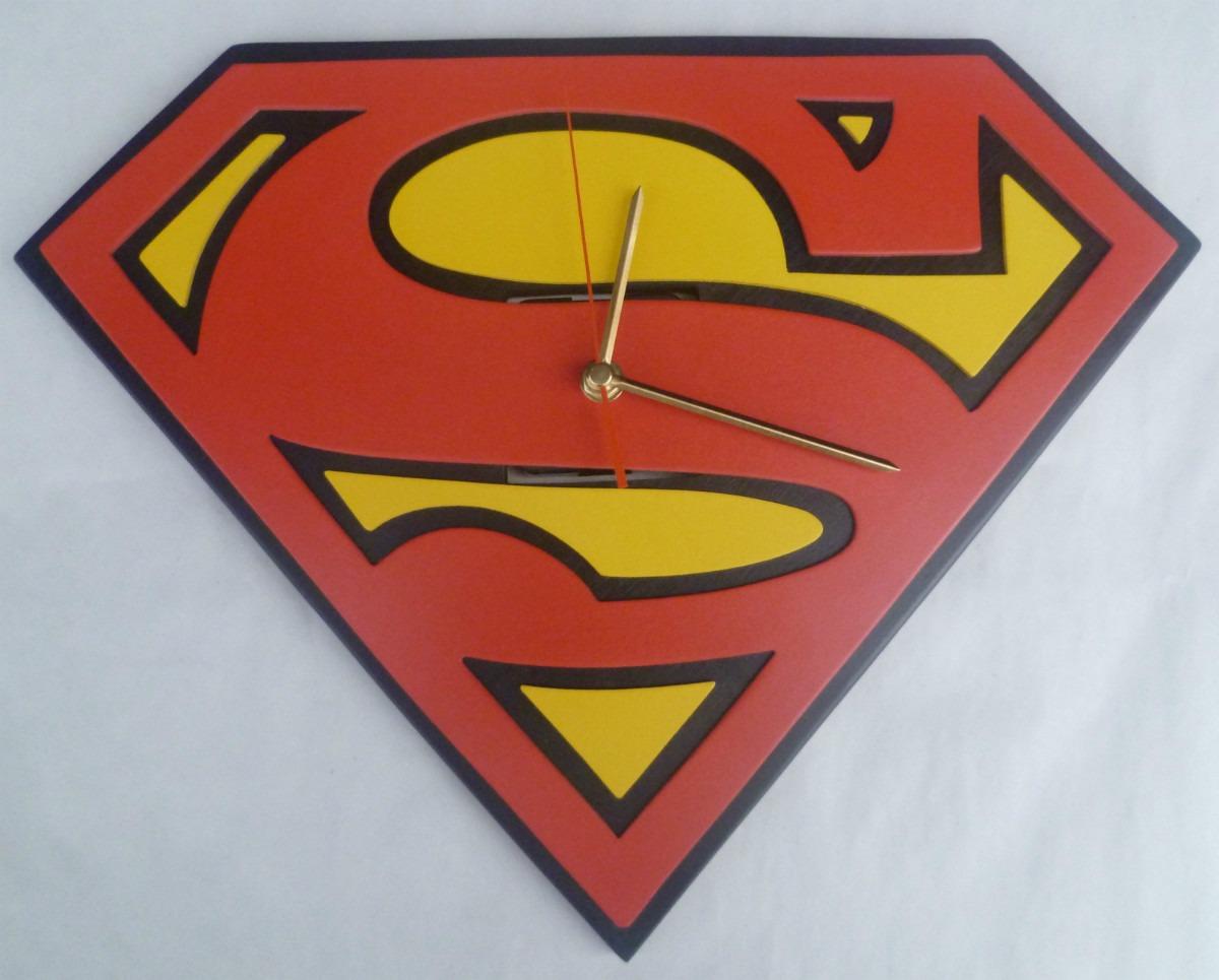 Reloj Pared Supermán Diseños Personalizados. - $ 90.000 en Mercado Libre