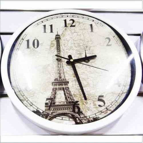 reloj pared torre eifel decorativo diseño hermoso novedoso