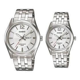 Reloj Pareja Casio Acero Ltp-1335d-7a Mtp-1335d-7a Original
