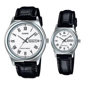 Reloj Pareja Casio Cuero Mtp-v006l-7b Ltp-v006l-7b Original