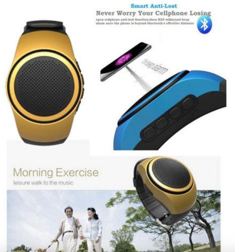 reloj parlante bluetooth fm alarma selfie micro sd radio b20