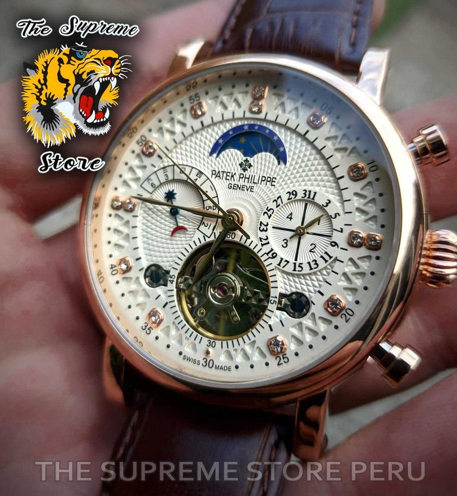 52b231cd2eb reloj patek philippe automatico stock fotos reales stock. Cargando zoom.