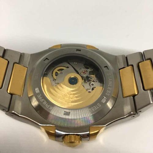 reloj patek philippe nautilus automático acero zafiro