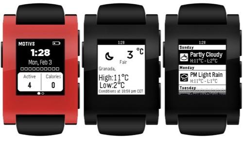 reloj pebble smartwatch compatible con apple y android op4