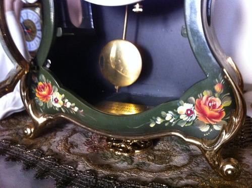 reloj pendulo  mecánico suizo antiguo eluxa luis xvi