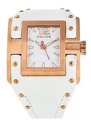 reloj pl-13401jsr /04 avenger rose gold ip de cuero blanc