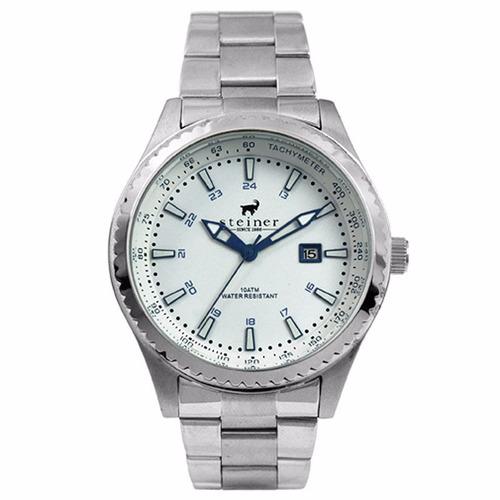 reloj plata analógico steiner diseño suizo -15% st22505d
