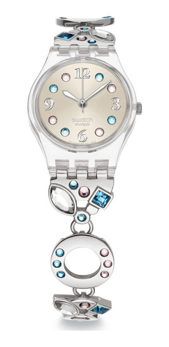reloj plateado swatch lk292g