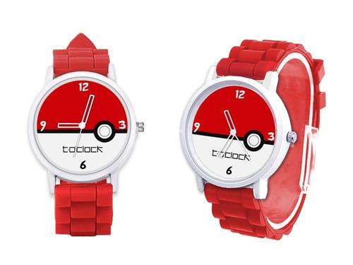 reloj pokemon pokebola unisex + caja regalo