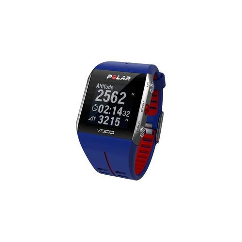 reloj polar computer v800 azul / rojo rutadeporte