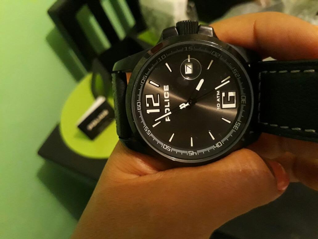 6546387239c7 Reloj Police Caballero Color Negro En Piel