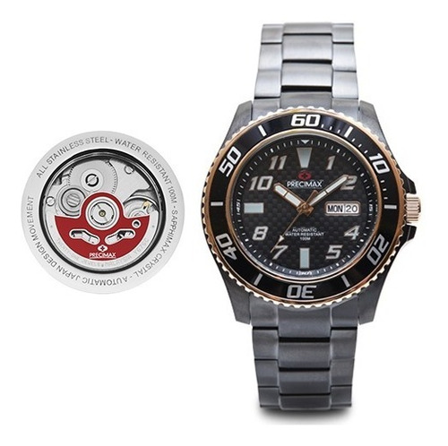 reloj precimax automático px13223  hombre original garantía