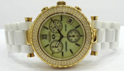 reloj precimax ceramic cronógrafo swarovski garantía oficial