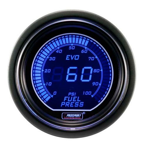 reloj presión combustible electrónico 52mm evo ar prosport