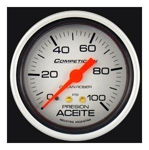 reloj presión de aceite orlan rober competición 60mm 100psi