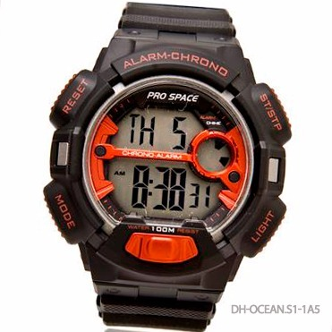 22422862f0b0 Reloj Pro Space Dh-ocean 100m Wr Crono Alarma Doble Hora -   901