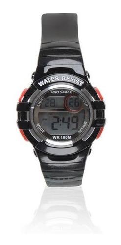 reloj pro space digital psd0093-dir-1h negro 100m