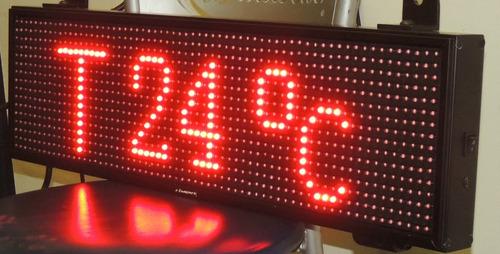 reloj programable de led, temperatura y humedad