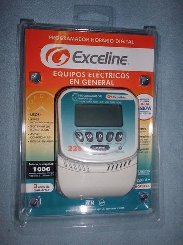 reloj programador horario digital 220 v exceline gtc-b1l220