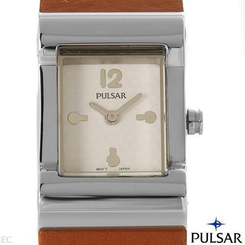 reloj pulsar by seiko para dama, acero inxidable 5 sp0