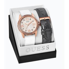 Guess En Relojes Mercado Intercambiables Con Reloj Blanco Correas vn0Nmw8