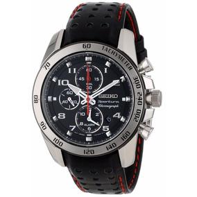 3a0f6053f7f4 Reloj Seiko Sportura Análogo Cronógrafo Piel Negro Snae65
