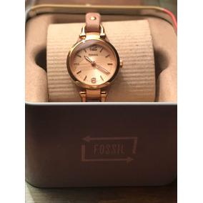 e8fdf409b67d Reloj Fossil Para Dama Correa Piel Color Blanco Muy Bonito - Reloj ...