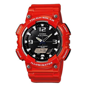 5d408869bc9c Reloj Casio Solar Sports Combi Gloss Red Aq-s810wc-4av