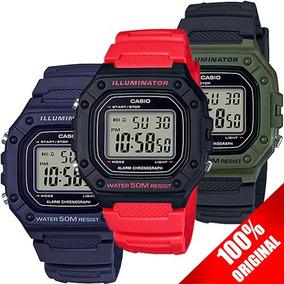729af4e84594 Reloj Casio W218 Sumergible - 7 Años Bateria Varios Colores