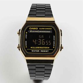 6c9d905e6a0c Reloj Casio Negro Dorado A 168 - Reloj de Pulsera en Mercado Libre ...
