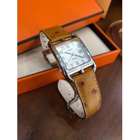 c9b67973b450 Reloj Hermès Cape Cod Acero Automático Con Estuche Autentico