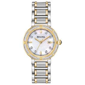 32ecb9419b33 Reloj Bulova Diamantes Para Dama 24 Diamantes Mov. De-98r260