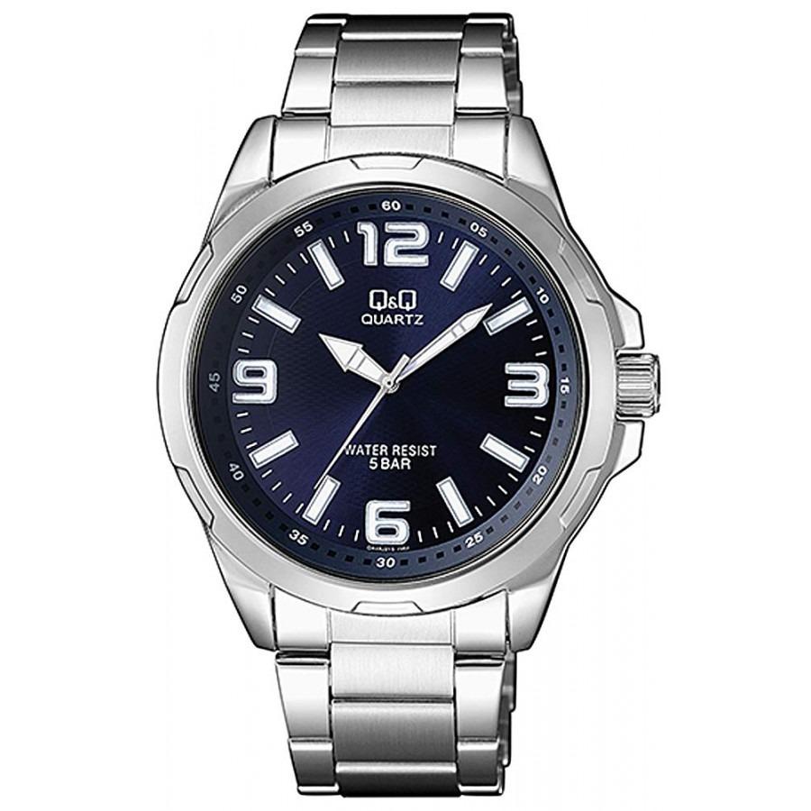 82e2459b5ab Reloj Pulsera Acero Q&q By Citizen Analogo Hombre Qa48j215y