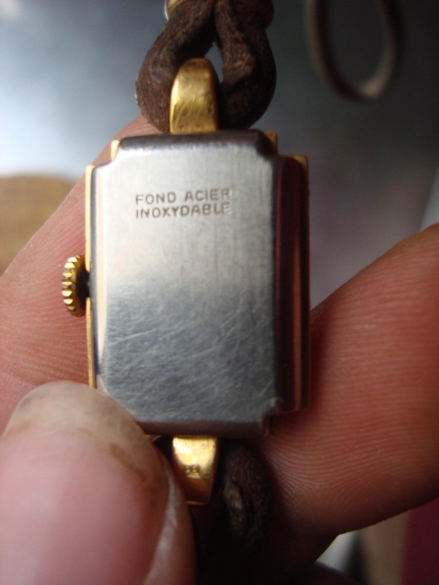 2a8e2ed195a7 Antiguo Reloj Pulsera De Mujer Funciona Enchapado En Oro -   530