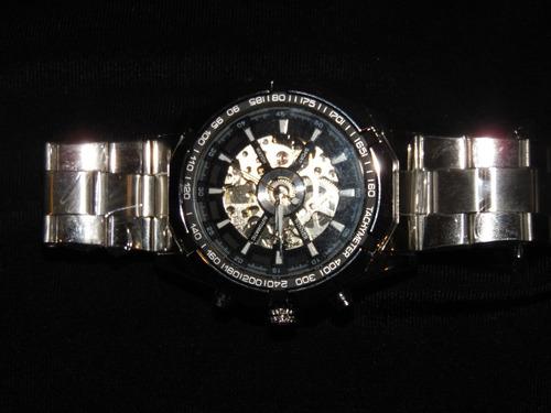 reloj  pulsera automatico forsining acero inoxidable