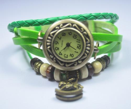 reloj pulsera dama mujer manilla de cuero vintage 16 diseños