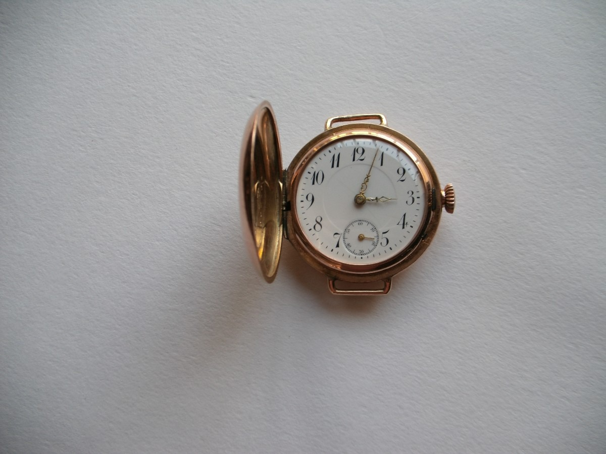 41d3ce3d9045 Reloj Pulsera De Hombre Antiguo De Oro